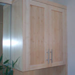 bamboo bathroom wall cabinet
