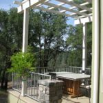 nevada city custom home dining patio