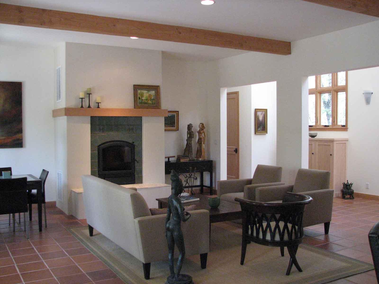 nevada city custom home living room