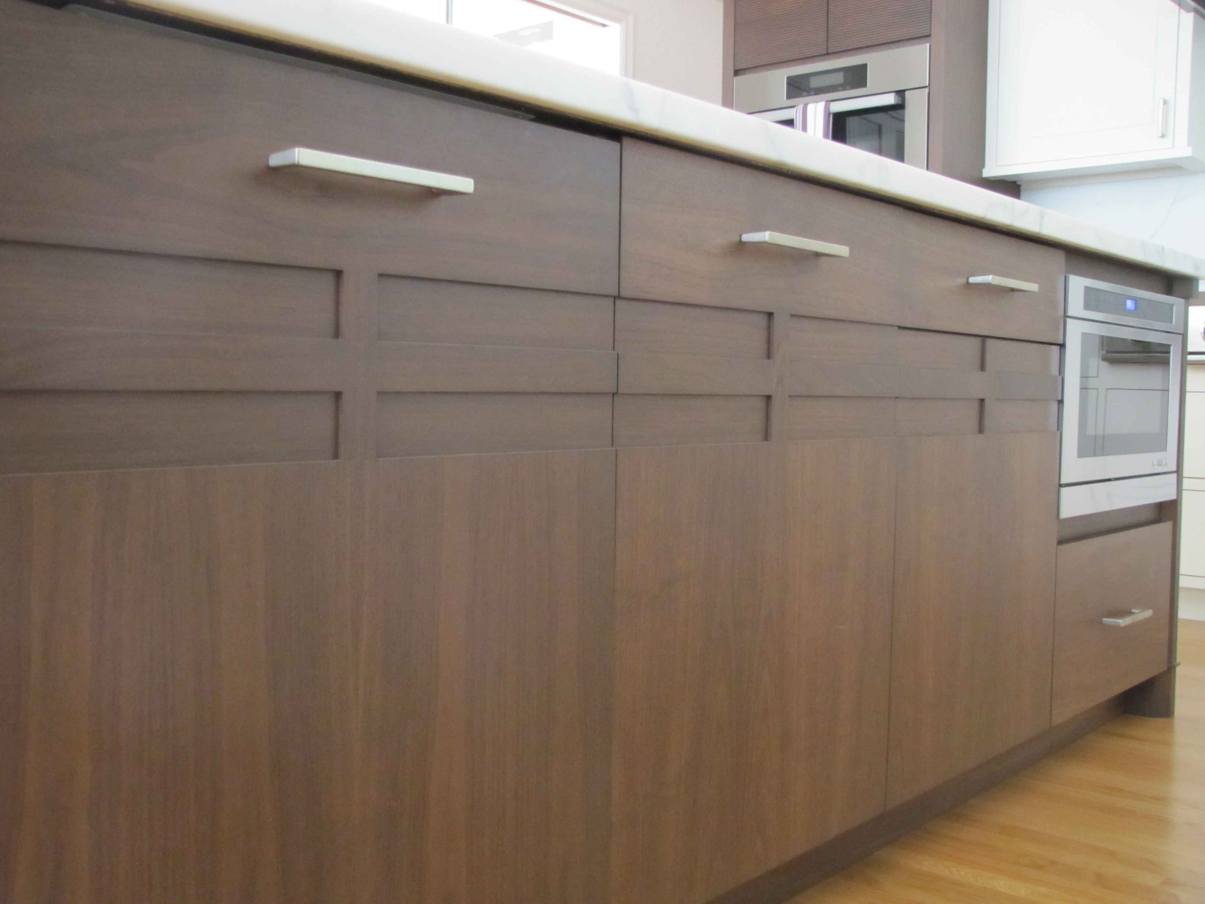 Terrific Walnut And White Painted Kitchen Cabinets And Media Center Home Interior And Landscaping Ologienasavecom