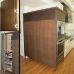 walnut pantry oven cabinets
