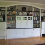 white painted media cabinets